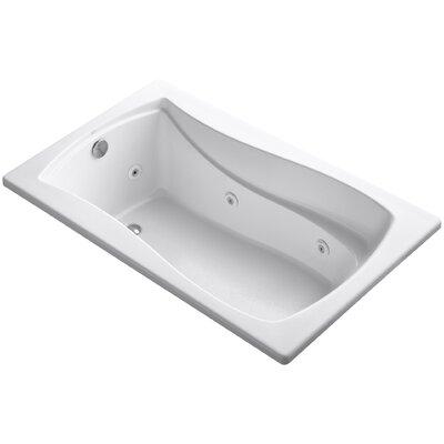 "Mariposa 60"" x 36"" Whirlpool Bathtub Finish: White"