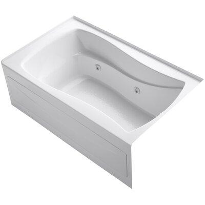 "Mariposa Alcove 60"" x 36"" Whirpool Bathtub Finish: White"