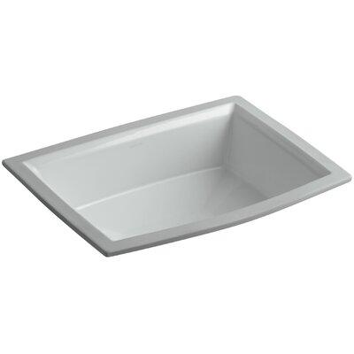 Archer Ceramic Rectangular Undermount Bathroom Sink with Overflow Sink Finish: Ice Grey