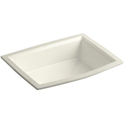 Archer Ceramic Rectangular Undermount Bathroom Sink with Overflow Sink Finish: Biscuit
