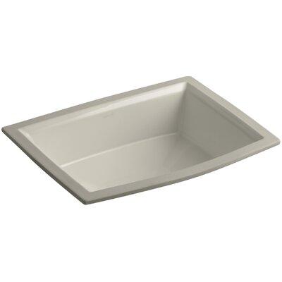 Archer Ceramic Rectangular Undermount Bathroom Sink with Overflow Sink Finish: Sandbar