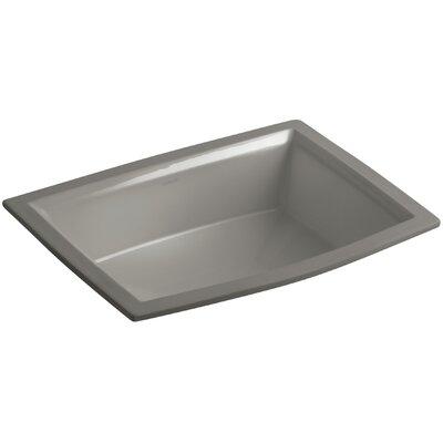 Archer Ceramic Rectangular Undermount Bathroom Sink with Overflow Sink Finish: Cashmere