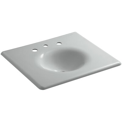 """Iron Impressions 26"""" Single Bathroom Vanity Top Finish: Ice Grey, Faucet Hole Style: 8'' Widespread"""