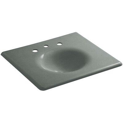 "Iron Impressions 26"" Single Bathroom Vanity Top Finish: Basalt, Faucet Hole Style: 8'' Widespread"
