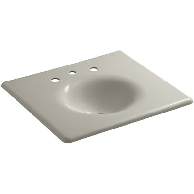 "Iron Impressions 26"" Single Bathroom Vanity Top Finish: Sandbar, Faucet Hole Style: Single"