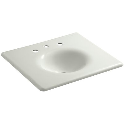"""Iron Impressions 26"""" Single Bathroom Vanity Top Finish: Dune, Faucet Hole Style: 8'' Widespread"""