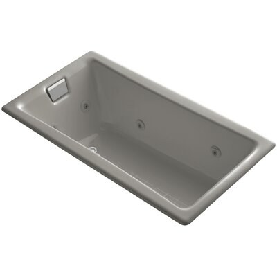 "Tea-For-Two 60"" x 32"" Whirlpool Bathtub Finish: Cashmere"