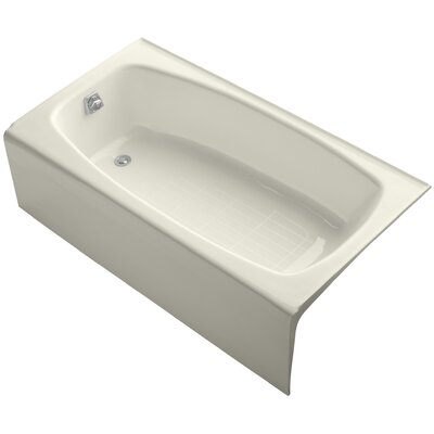 "Dynametric Alcove 60"" x 32"" Soaking Bathtub Finish: Biscuit"