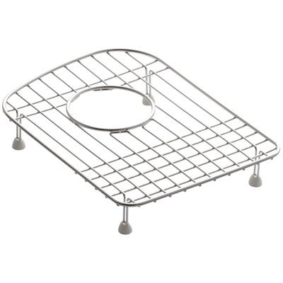 """Woodfield 9-1/2"""" x 13"""" Stainless Steel Sink Rack, for Left Bowl"""