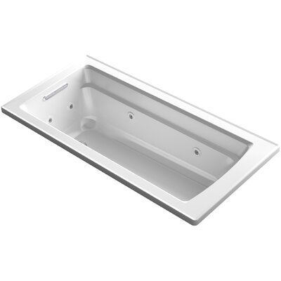 "Archer Impressions ExoCrylic? 66"" x 32"" Drop-in Whirlpool Finish: White"