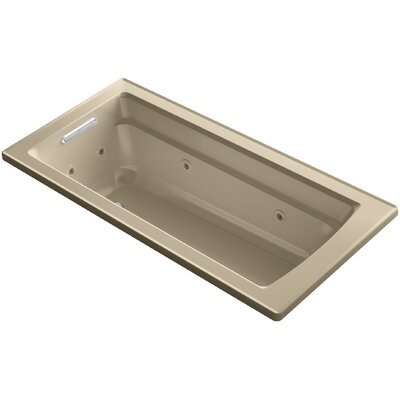 "Archer Impressions ExoCrylic? 66"" x 32"" Drop-in Whirlpool Finish: Mexican Sand"