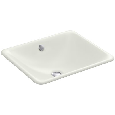 Iron Plains? Metal Rectangular Undermount Bathroom Sink with Overflow Finish: Dune
