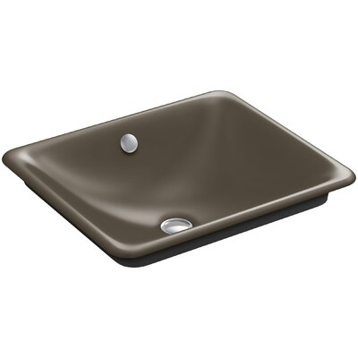 Iron Plains? Metal Rectangular Vessel Bathroom Sink with Overflow Finish: Suede