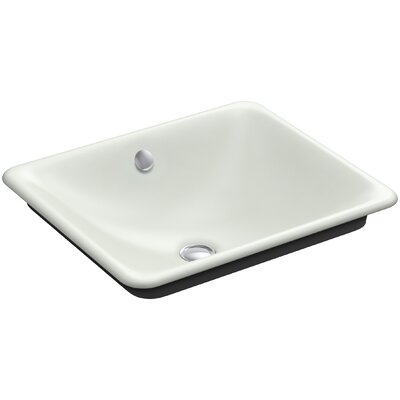 Iron Plains? Metal Rectangular Vessel Bathroom Sink with Overflow Finish: Sea Salt