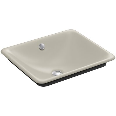 Iron Plains? Metal Rectangular Vessel Bathroom Sink with Overflow Finish: Sandbar