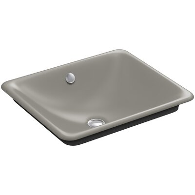 Iron Plains? Metal Rectangular Vessel Bathroom Sink with Overflow Finish: Cashmere