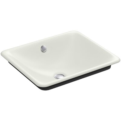 Iron Plains? Metal Rectangular Vessel Bathroom Sink with Overflow Finish: Dune