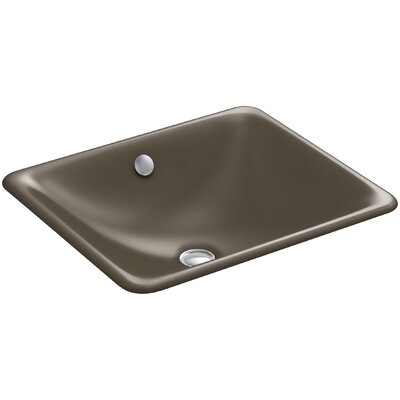 Iron Plains? Metal Rectangular Undermount Bathroom Sink with Overflow Finish: Suede