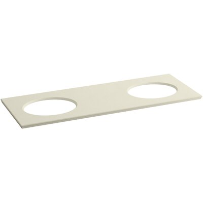 "Solid/Expressions 61"" Double Bathroom Vanity Top Finish: Almond Expressions"