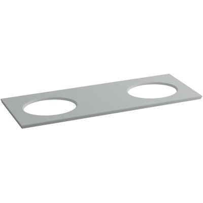 "Solid/Expressions 61"" Double Bathroom Vanity Top Finish: Ice Grey Expressions"