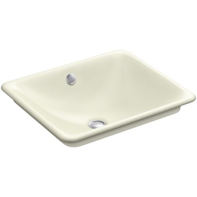 Iron Plains? Metal Rectangular Vessel Bathroom Sink with Overflow Finish: Cane Sugar