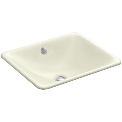 Iron Plains? Metal Rectangular Undermount Bathroom Sink with Overflow Finish: Cane Sugar