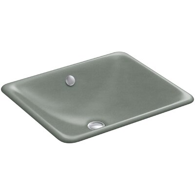 Iron Plains? Metal Rectangular Undermount Bathroom Sink with Overflow Finish: Basalt