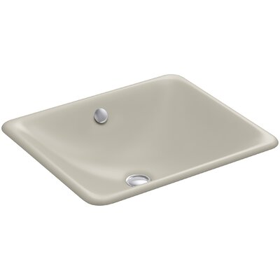 Iron Plains? Metal Rectangular Undermount Bathroom Sink with Overflow Finish: Sandbar