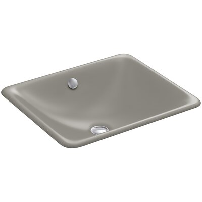 Iron Plains? Metal Rectangular Undermount Bathroom Sink with Overflow Finish: Cashmere