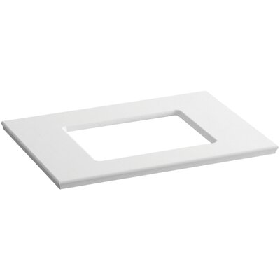 "Solid/Expressions Single Verticyl Rectangular Cutout 31"" Single Bathroom Vanity Top Finish: White Expressions"