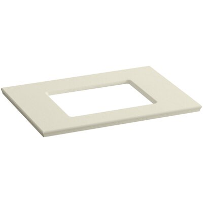 "Solid/Expressions Single Verticyl Rectangular Cutout 31"" Single Bathroom Vanity Top Finish: Almond Expressions"