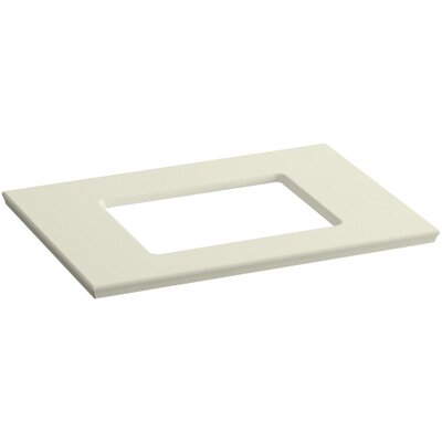 "Solid/Expressions Single Verticyl Rectangular Cutout 31"" Single Bathroom Vanity Top Finish: Biscuit Expressions"