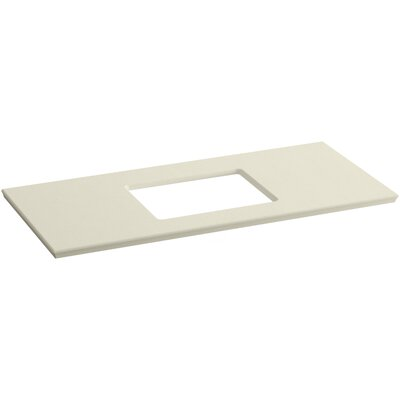 "Solid/Expressions 49"" Single Bathroom Vanity Top Finish: Almond Expressions"
