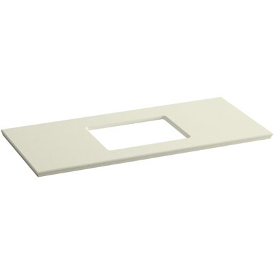 "Solid/Expressions 49"" Single Bathroom Vanity Top Finish: Biscuit Expressions"