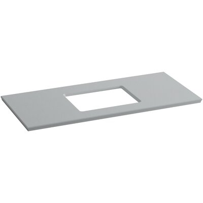 "Solid/Expressions 49"" Single Bathroom Vanity Top Finish: Ice Grey Expressions"