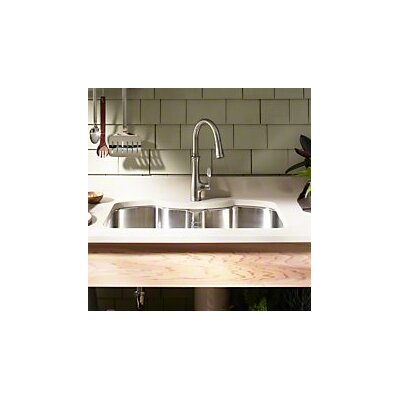 """Octave 32"""" L x 20-1/4"""" W x 9-5/16"""" Under-Mount Double-Equal Stainless Steel Kitchen Sink"""