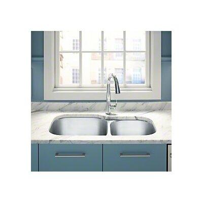 "Undertone Preserve 35-1/8"" L x 20-1/8"" W x 9-5/8"" Under-Mount Extra Large/Medium Double-Bowl Kitchen Sink"