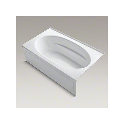 "Windward 72"" x 42"" Air Bathtub Finish: White, Drain Location: Right"