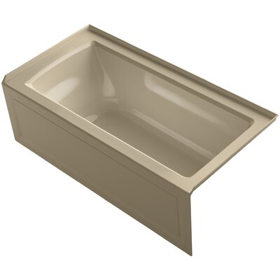 Archer Alcove Bath with Bask Heated Surface, Integral Apron, Tile Flange and Right-Hand Drain Finish: Mexican Sand