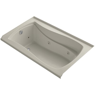 "Mariposa Alcove 60"" x 36"" Whirpool Bathtub Finish: Sandbar"
