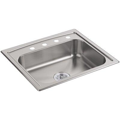 """Toccata 25"""" L x 22"""" W x 6"""" Top-Mount Single-Bowl Kitchen Sink"""