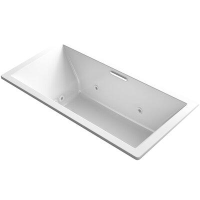 "Underscore 72"" x 36"" Air / Whirlpool Bathtub Finish: White"