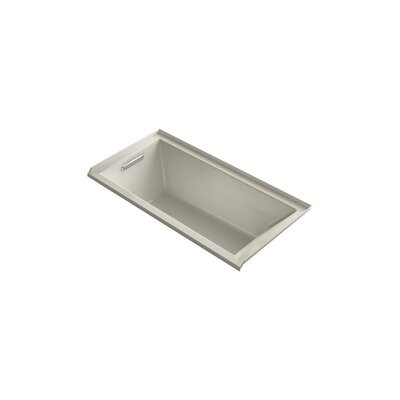 "Underscore 60"" x 30"" Soaking Bathtub Finish: Sandbar, Drain Location: Left"