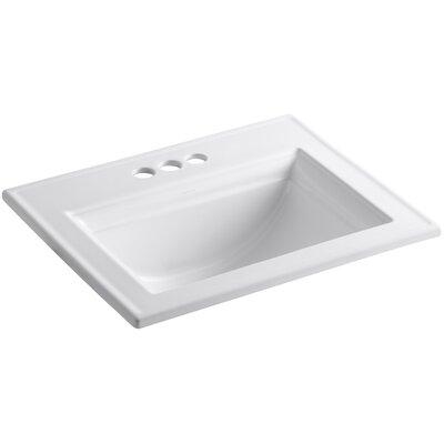 Memoirs Ceramic Rectangular Drop-In Bathroom Sink with Overflow Finish: White