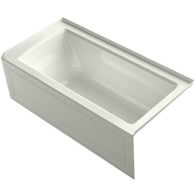 Archer Alcove Bath with Bask Heated Surface, Integral Apron, Tile Flange and Right-Hand Drain Finish: Dune