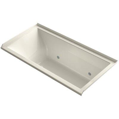 "Underscore 60"" x 30"" Soaking Bathtub Finish: Biscuit, Drain Location: Right"