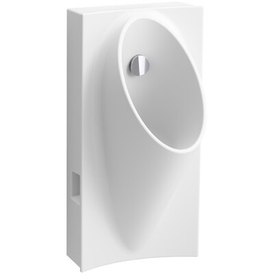 "Steward Hybrid High-Efficiency Urinal with 1/2"" Flexible Rear Supply Hose Finish: White"