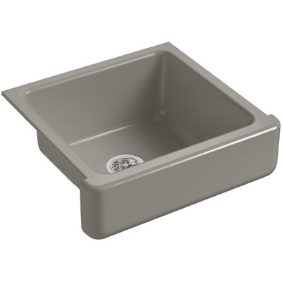 """Whitehaven Self-Trimming 23-1/2"""" L x 21-9/16"""" W x 9-5/8"""" Under-Mount Single-Bowl Sink with Short Apron Finish: Cashmere"""