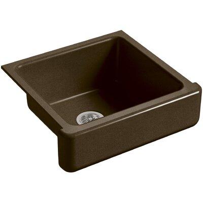 "Whitehaven Self-Trimming 23-1/2"" L x 21-9/16"" W x 9-5/8"" Under-Mount Single-Bowl Sink with Short Apron Finish: Black 'n Tan"