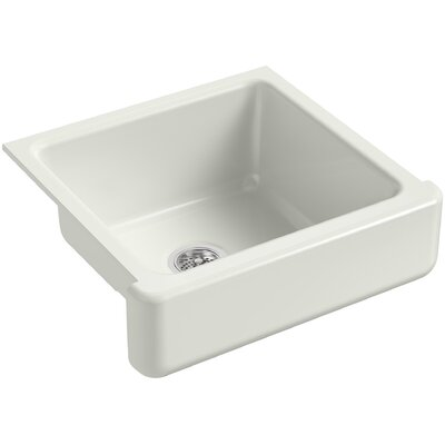 """Whitehaven Self-Trimming 23-1/2"""" L x 21-9/16"""" W x 9-5/8"""" Under-Mount Single-Bowl Sink with Short Apron Finish: Dune"""